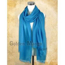 Обычные цвета 100% шерстяные шарфы