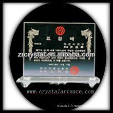 design attrayant blanc trophée en cristal X054