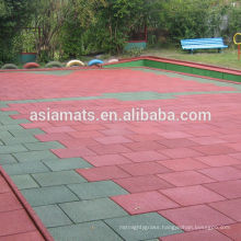 Outdoor safety rubber flooring for walkway