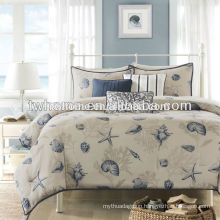 Madison Park Bayside Multi Piece Bedding Seashells Printed Duvet Cover Set