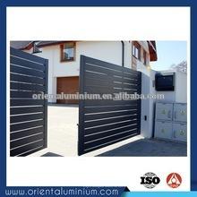 Porte d'entrée en aluminium design moderne