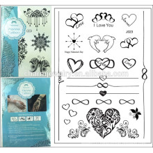 2015 new foreign trade selling temporary tattoo sticker heart shape design lace tattoo can mixed batch j023