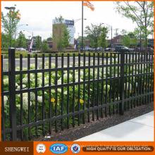 Conception de clôture résidentielle portable en fer