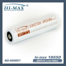 18650 2600mAh Protected Li-ion Battery 3.7V 1PC