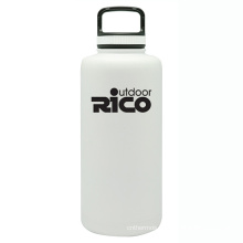 Durable Stainless Steel Vacuum Sports Bottle White 64oz