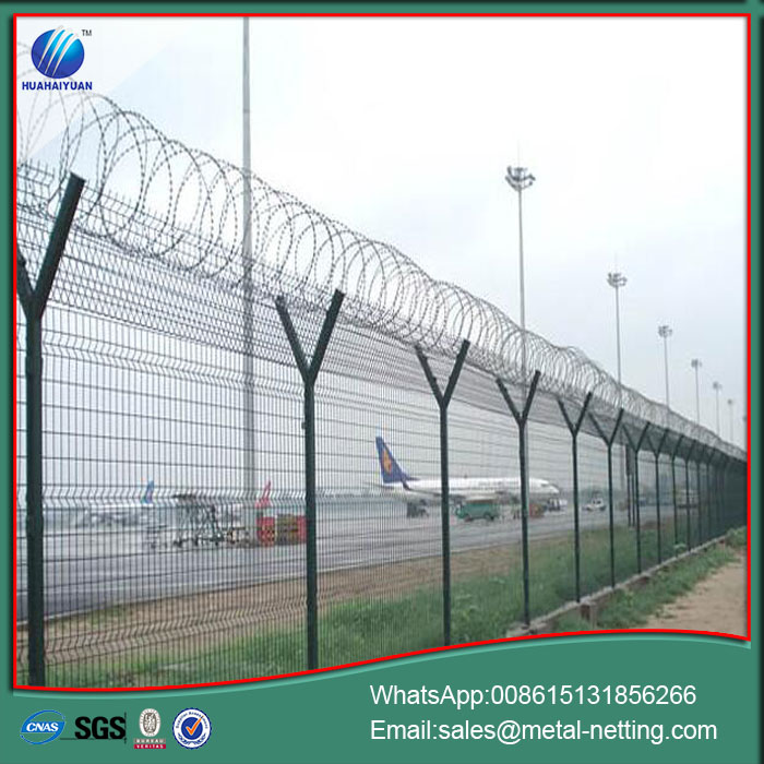 airport security wire fence