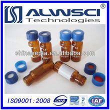 2014 9mm Screw Thread Amber Autosampler Vial with Patch et Graduation Lines