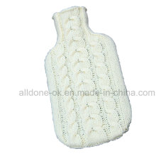 Hand Knit Hot Water Bottle Cover Cosy Case Bag