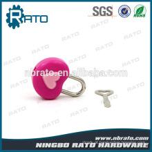 Light Small Cheap Plastic Pink Heart Shape Padlock