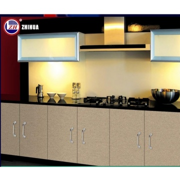 Modern High Glossy Lacquer Flat Pack Wooden Kitchen Cabinet Designs with Countertop Stone