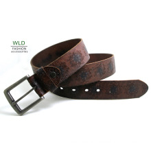 Fashion Embossing Basic Genuine Top Leather Belt Lky1215