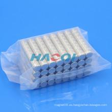 8X5mm cilindro smco imán recubrimiento con níquel