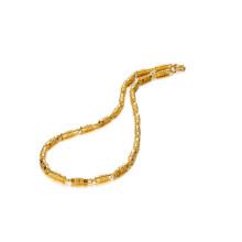 Cadena de bambú de chapado en cobre, joyería cubana de cadena de eslabones 18k chapada en oro