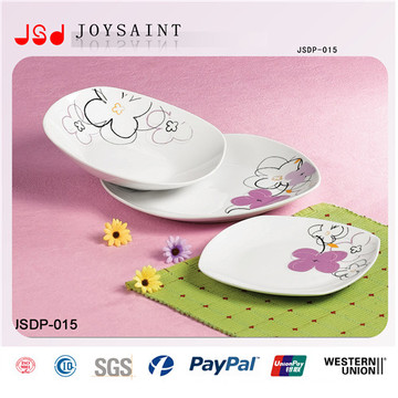 Factory Wholesale 30PCS Square Shape Ceramic Dinnerware Set