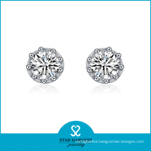 Factory Direct Jewelry Fashion Earring with Rhodium Plating (E-0086)