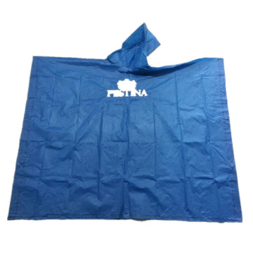 Emergency Waterproof PVC Rain Poncho with Hood
