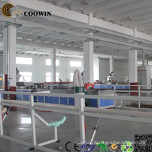 Máquina compuesta de plástico de madera, línea de extrusión de placa / perfil WPC
