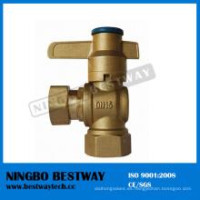 China Válvula de bola bloqueable de cobre amarillo magnética de Ningbo Bestway (BW-L05)
