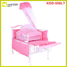 Hot sale europe standard blue pink brown multifunction baby crib bed