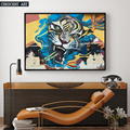 Canvas Tiger Portrait Wall Decor