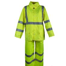 Pantalones de lluvia de seguridad lugar de trabajo ropa impermeable reflectante de seguridad
