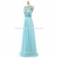 Women sleeveless Evening long dress 2017 floor length heavy beaded prom dress graduation wholesale