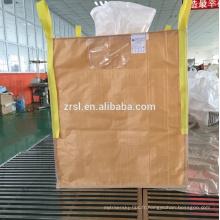 Jumbo grand sac enduit peut imperméable à l'eau, pp sac tissé en plastique 1 tonne de ciment dans le grand sac fibc grand sac utilisé