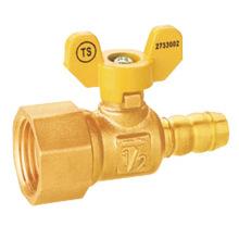 brass female thread integral leakproof gas ball valve