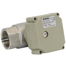 Válvula de bola eléctrica del acero inoxidable de la voluta de la bola del agua de flujo de 1 pulgada de NSF 2 con la operación manual (T25-S2-C)