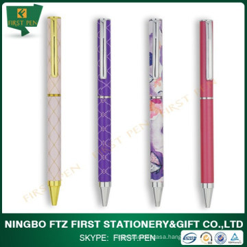 First Y307 Slim Metal Ball Pen With Full Color Printing