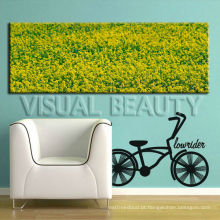 Cópia panorâmico da imagem / cópia da imagem da flor na lona para a decoração da sala de visitas