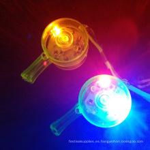 plástico intermitente LED intermitente silbatos cordones collares