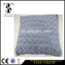home textile knitting linen and fake fur travel decorative pillow