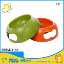 Mercancías creativas del alimentador de la melamina de 7.5 pulgadas alimentador del animal doméstico del bambú del color