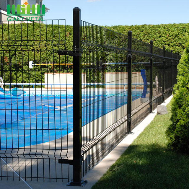Black 4x4 welded wire mesh fence China Manufacturer