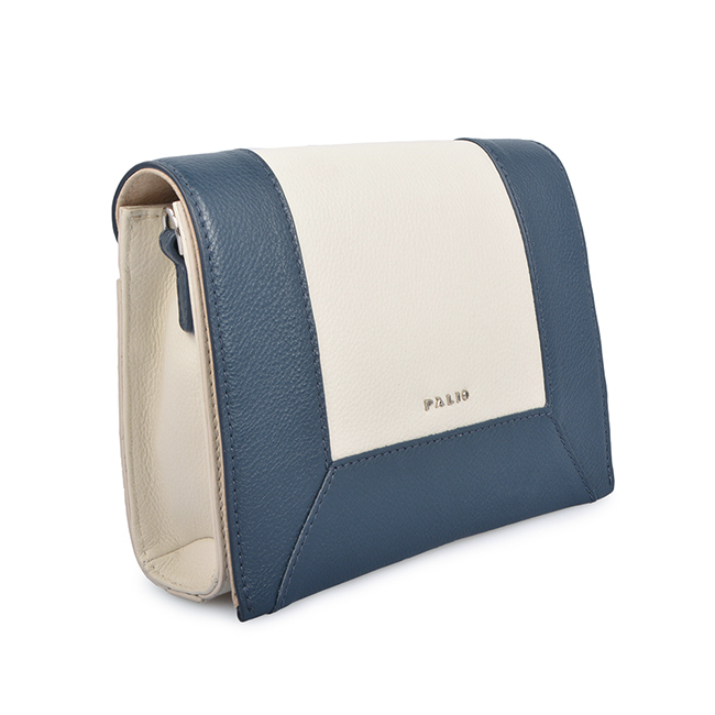 Fashion Panelled Cow Leather Women Messenger Bag