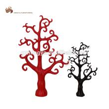 Made in China personalizado polyresin negro árbol rojo árbol abstracto jardín decoración arte artesanía