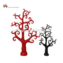 Made in China custom polyresin black tree red tree abstract garden decoration art craft
