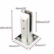 Factory Direct Casting Glass Clip Pool Short Bracket Frameless Glass Balustrade