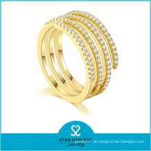 10 Jahre Hersteller Chuck Gold Farbe Kinder Silber Ring (R-0642)