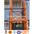 Guide rail hydraulic drywall lift
