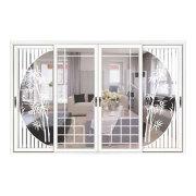 Puerta deslizante de aluminio para baño
