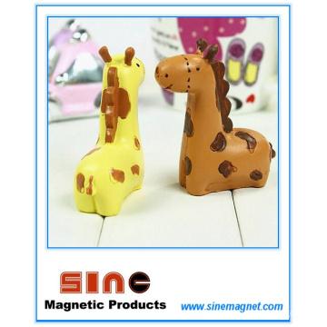 Mini Kiss Giraffe Magnet / Resina Artesanato Decoração / Veículo