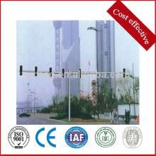 Postes de señal de tráfico de doble brazo, poste de señal de acero galvanizado