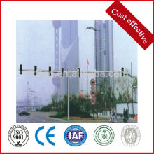 Double arm traffic signal poles,galvanized steel sign pole