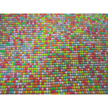 Colorful resin rhinestone sticker aluminum base 45*120cm