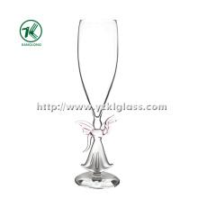 Single Wall vidro de champanhe por SGS (DIA6 * 24)