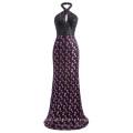 Kate Kasin impresionante Sequined Backless halter vestido de fiesta de baile de noche vestido de baile tamaño 7 US ~ 4 ~ 16 KK001038-1