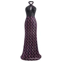 Kate Kasin Stunning Sequined Backless Halter Ball Gown Evening Prom Dress 7 Size US 4~16 KK001038-1
