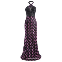 Kate Kasin Impressionante Sequined Backless Halter Ball Gown Evening Prom Dress 7 Tamanho US 4 ~ 16 KK001038-1